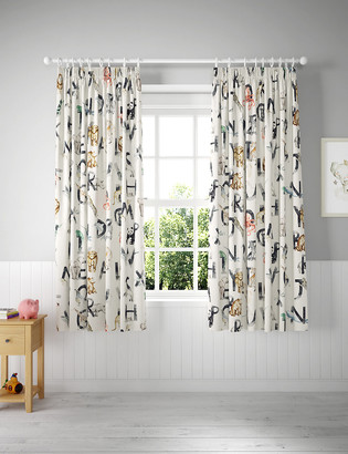 Marks and Spencer Cotton Mix Alphabet Kids Curtains