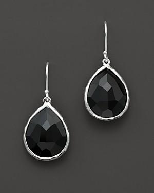 Ippolita Sterling Silver Rock Candy Small Teardrop Earrings in Black Onyx
