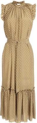 Zimmermann Super Eight silk frill midi dress