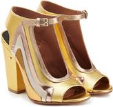 Laurence Dacade Keric Metallic Leather Block Heel Sandals