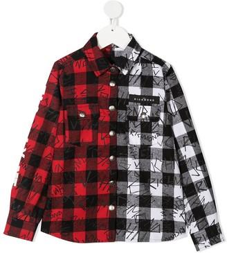 John Richmond Junior Two-Tone Cotton Shirt