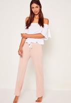 Missguided White Bardot Top Pajama Set