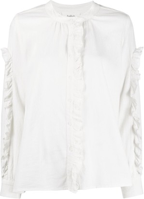 BA&SH Ceana ruffle trim shirt