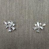 Rocks With Soul Alternating Baguette Diamond Earrings White Gold