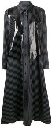 MM6 MAISON MARGIELA Panelled Pinstriped Midi Shirt Dress