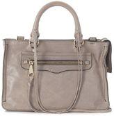 Rebecca Minkoff Micro Regan Crossbody Bag In Grey Shiny Leather