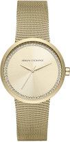 Armani Exchange A|X Women's Liv Gold-Tone Stainless Steel Mesh Bracelet Watch 38mm AX4502