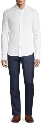 Isaia Long-Sleeve Piquet Wash Polo Shirt