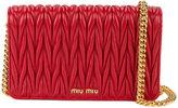Miu Miu mini Delice matelassé bag - women - Leather/Brass - One Size