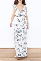 Hommage Floral Ruffle Maxi Dress