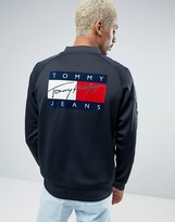 Tommy Jeans 90s Track Jacket M10 Back Print in Navy