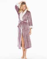 Soma Intimates Sherpa Plush Long Robe Bordeaux