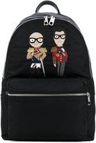 Dolce & Gabbana zip 'Vulcano' backpack - men - Leather/Nylon - One Size