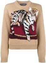 Dolce & Gabbana cat cashmere blend sweater