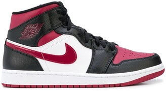 "Jordan Air 1 Mid ""Bred Toe"" sneakers"