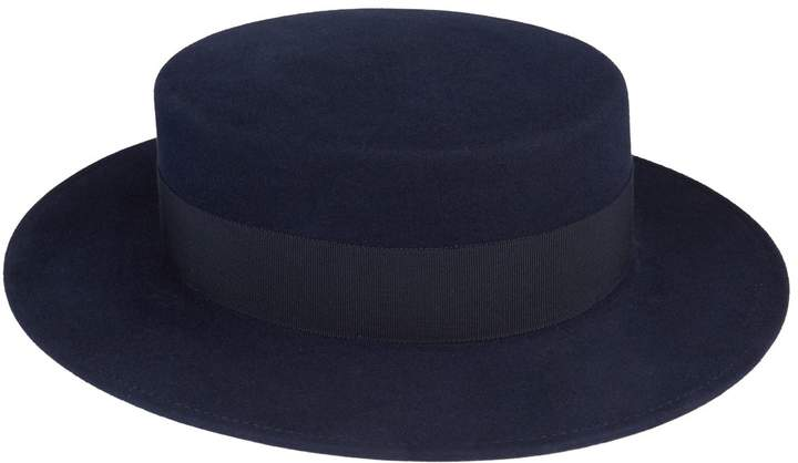 Maison Michel Kiki Canotier Hat