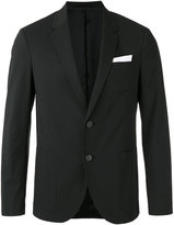 Neil Barrett pocket square blazer - men - Cotton/Spandex/Elastane - 48