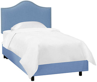 One Kings Lane Tallman Kids' Bed - French Blue Linen - Twin