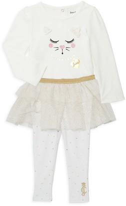 Juicy Couture Baby Girl's 2-Piece Cotton-Blend Top & Tutu Leggings Set