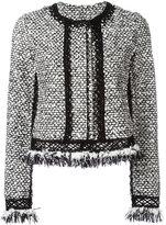 Jonathan Simkhai ruffle tweed jacket - women - Silk/Cotton/Acrylic/Alpaca - S