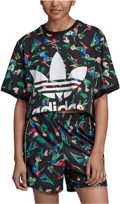 adidas Women Bellista Floral Cropped T-Shirt
