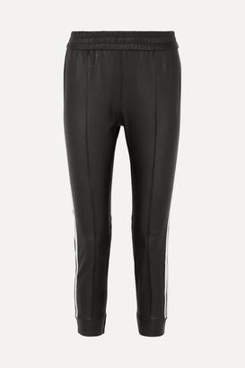 Sprwmn Striped Leather Track Pants - Black