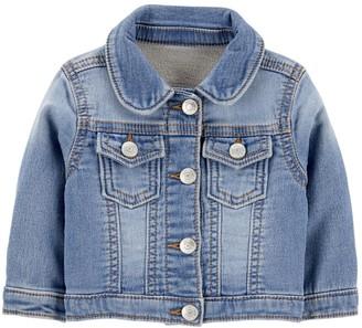 Osh Kosh Baby Girl Classic Knit Denim Jacket