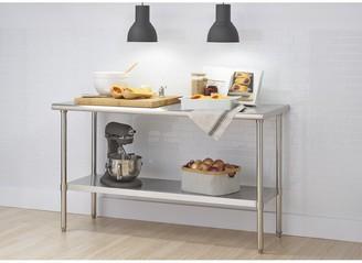 """Trinity EcoStorage? 60"""" x 24"""" x 34.65"""" Stainless Steel Table, NSF Certified"""