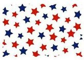 Camilla And Marc SheetWorld Primary Patriotic Stars On Woven Fabric - By The Yard - 101.6 cm (44 inches)
