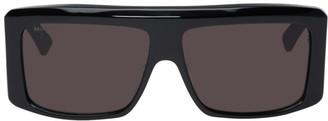 Balenciaga Black Oversized Flat Top Sunglasses