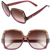 MCM Women's 58Mm Oversize Square Sunglasses - Striped Brown/ Cyclamen