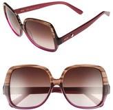 MCM Women's 58Mm Square Sunglasses - Striped Brown/ Cyclamen