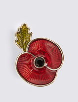 M&S Collection The Poppy Collection® Enamel Brooch