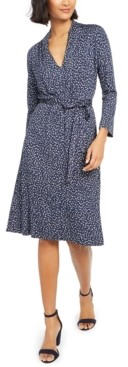 French Connection Tie-Waist Jersey Dress