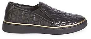Balmain Men's Quilted Leather Skate Sneakers