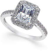 Arabella Swarovski Zirconia Square Ring in 14k White Gold, Only at Macy's
