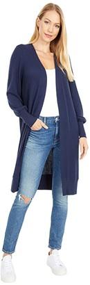 Lucky Brand High Rib Cloud Jersey Cardigan (American Navy) Women's Clothing