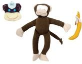 Under the Nile Infant 3-Piece Monkey Bib, Stuffed Animal And Stuffed Banana Set