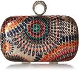 BMC Womens One Ring Knuckle Duster Evening Mini Clutch Sequin Handbag - Design 2