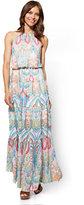 New York & Co. Halter Maxi Dress - Paisley - Tall