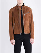 Ralph Lauren Purple Label Randall stand-collar suede jacket