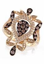 Effy Jewelry Effy Espresso 14K Yellow Gold Diamond Filigree Ring, .84 TCW