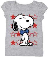 Freeze Heather Gray Snoopy Stars Tee - Toddler