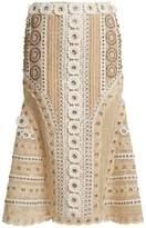 Jonathan Simkhai Eyelet-embellished macramé-lace skirt