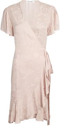 Samsoe & Samsoe Adelia Satin Jacquard Wrap Dress