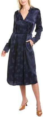 Vince Jacquard Midi Dress