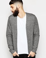 Asos Cotton Buttonless Cardigan in Black Twist