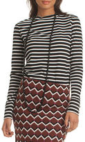 Trina Turk Striped Cotton Jersey Top