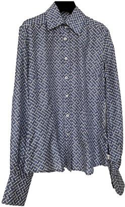 Cerruti Blue Silk Top for Women