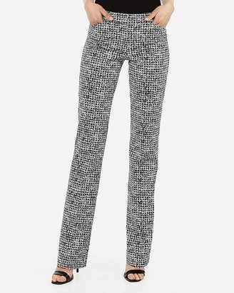 Express Low Rise Barely Boot Houndstooth Editor Pant
